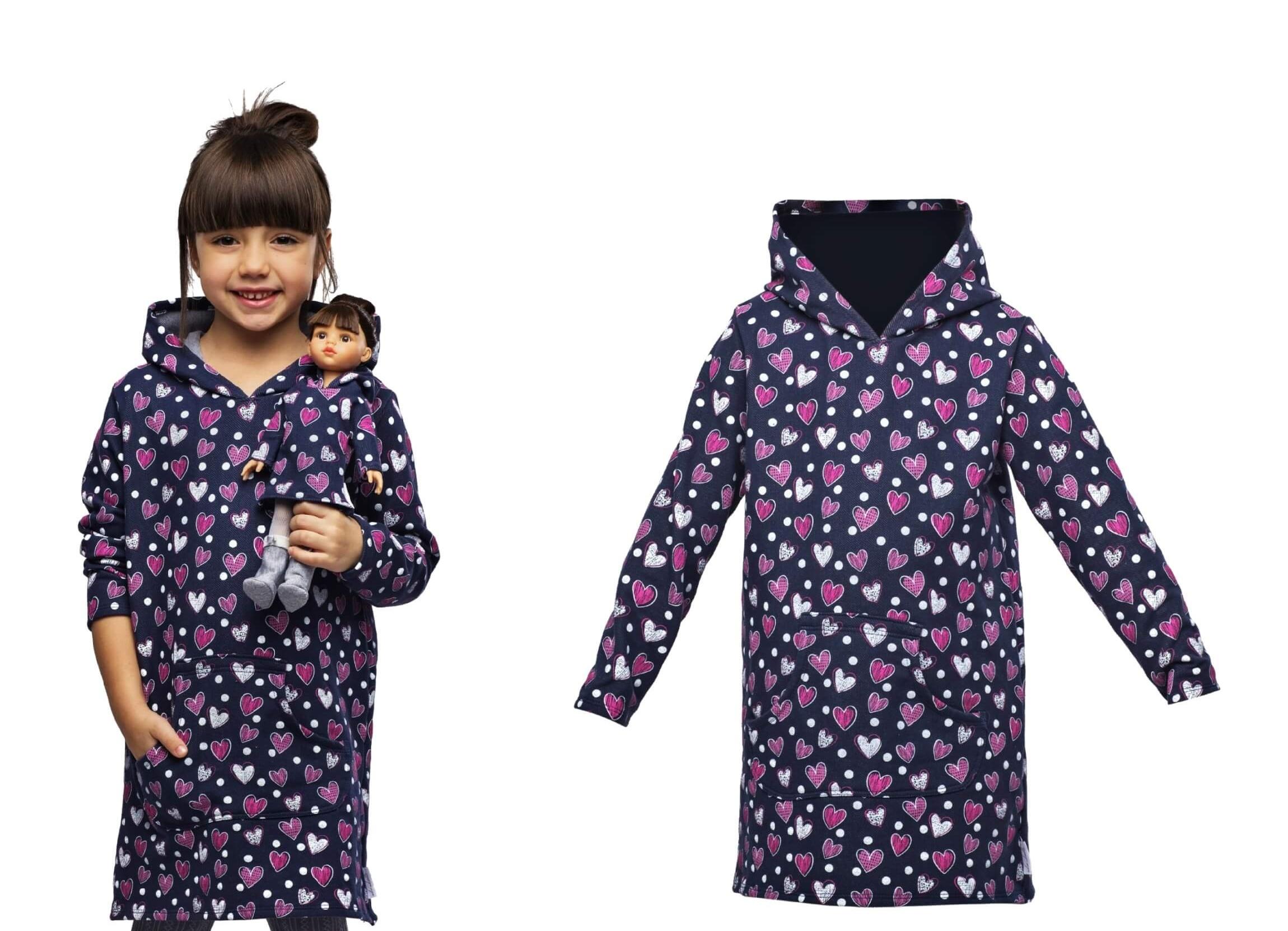 Kleid für Mädchen und Puppe La Lalla. Kleidung für Puppen und Kinder ...